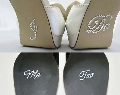 Me too Clear Crystal Rhinestone Wedding Shoe Sticker Decal for Photos