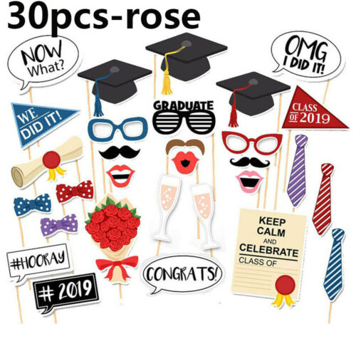 Stylish Graduation Grad Party Supplies Masks Photo Booth Props Decorations