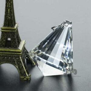 Clear-Crystals-Hanging-Tapered-pendant-Chandelier-Glass-Lamp-Prisms-Part-50mm