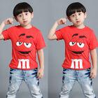 Toddler Kids Baby Boy Short Sleeve T-shirt Tops Casual Cartoon Tops Tee Blouse