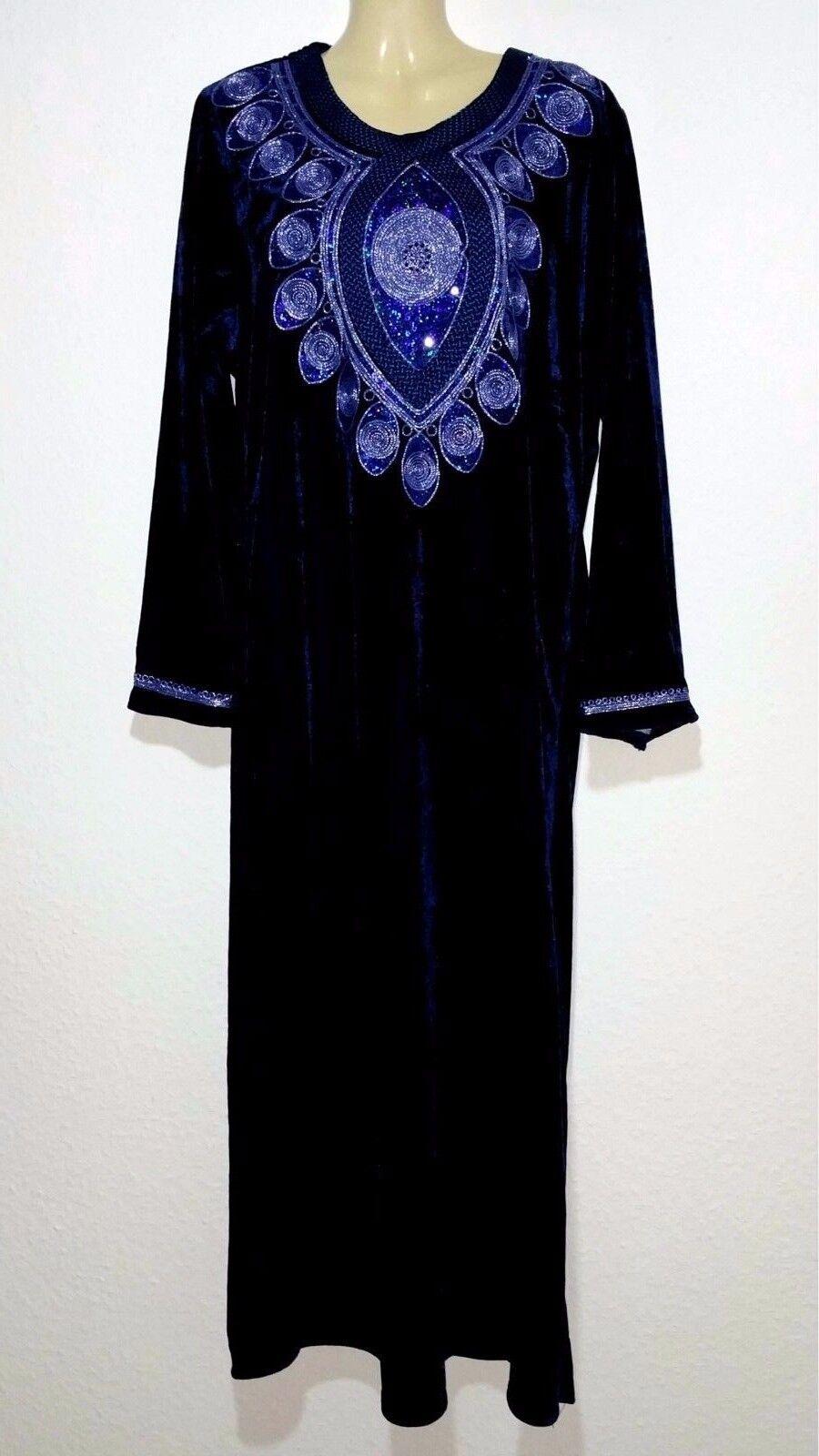 Abaya Robe Maxi Jellabiya en Velours de Soirée Hijab Khimar size L - 3XL
