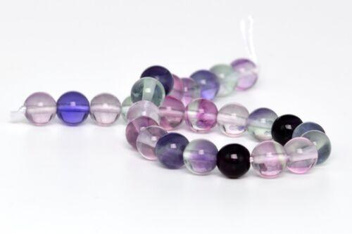 "8MM Genuine Natural Fluorite Gemstone Beads Grade AA Round Loose Beads 8/"""