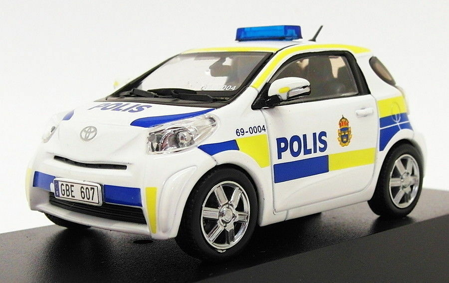 J-Collection 1 43 Scale JC247 - 2011 Toyota IQ - Sweden Police Car