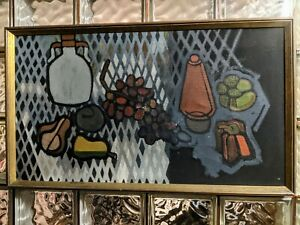 Handsome-Early-Abstract-Flattened-Still-Life-Oil-Painting-after-Filla-Matisse