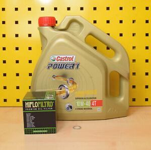Honda Oelwechselset Filtro de Aceite Junta Tapón Drenaje Castrol Power 1 10w40