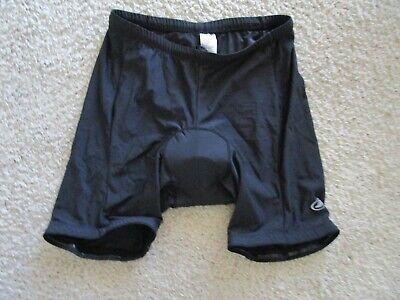 Canari Mens Cycling Shorts Size XXL Black Padded Stretch Polyester Biking New