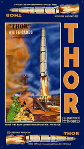 08904-GLENCOE-THOR-ICBM-Rocket-with-Crew-and-Launch-Pad-model-kit-1-87-new
