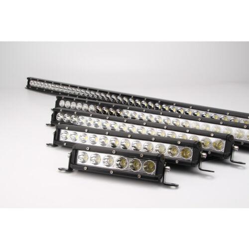 2pcs 7INCH 30W LED Light Bar Single Row Flood Fit Offroad 4WD Jeep Truck ATV