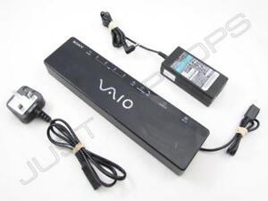 Sony-Vaio-VGN-CS3-VGN-AW1-USB-2-0-Docking-Station-Port-Replicator-w-Video-PSU