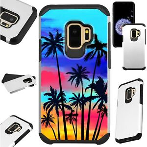 FUSIONGuard-For-Samsung-Galaxy-S9-S8-Note-8-J7-J3-Phone-Case-SUNSET-PALM-TREE