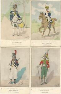Cdt-BUCQUOY-UNIFORMES-1er-EMPIRE-Serie-7-le-9-de-LIGNE-en-1809