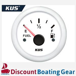 240-33-Ohm-White-Fuel-Tank-Gauge-KUS-SeaV-Gauge-Easy-Installation