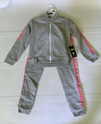 DKNY Baby Girls/' Metallic-Trimmed 2-Piece Sweatsuit Pants Set