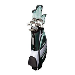 Wilson-Profile-XLS-Women-039-s-RH-Flex-Graphite-Golf-Club-Package-Set-with-Bag-Teal