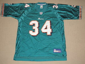 978fa571 Details about NFL Football Vintage Miami Dolphins Ricky Williams #34 Jersey  XLarge Reebok RBK