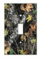 Mossy Oak Camouflage Single Or Double Light Switch Toggle Cover