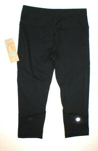 6aa3e5f2cb NWT Womens New Crop Capri Pants Run Yoga Pilates Mesh XS Black ...