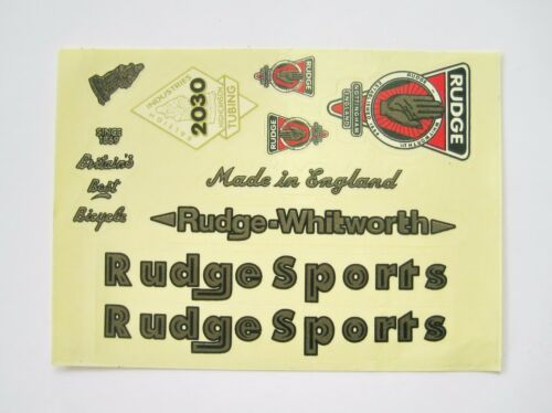 VINTAGE BICYCLE BIKE RUDGE STICKER DECALS SET