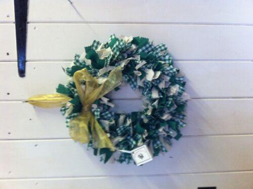 """Shabby Chic Handmade Rag Wreath 12/"""" Choice of colours Christmas"""