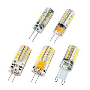 10-x-G4-G9-1-5W-2W-3W-Stiftsockel-LED-Leuchtmittel-Birne-Lampe-Warmweiss-Weiss