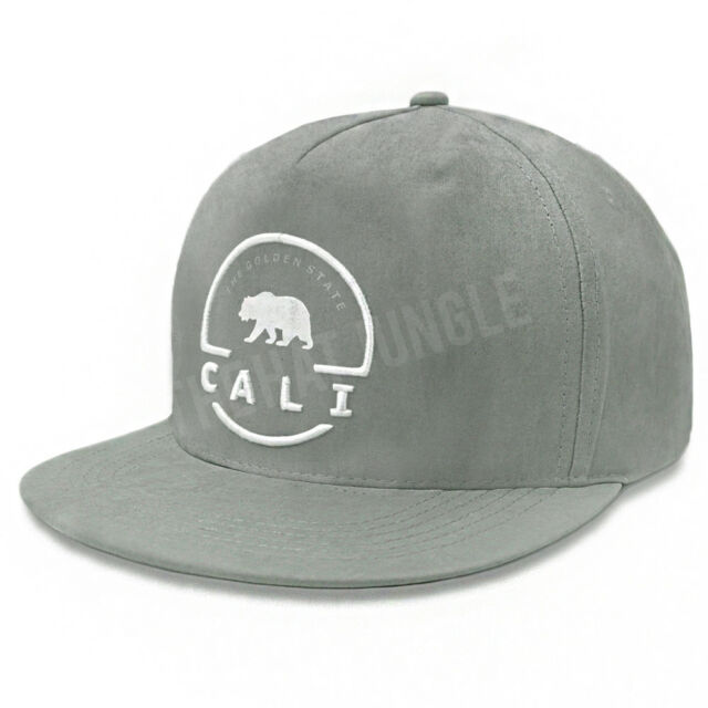California Republic Snapback Hat Cali Bear Adjustable Cap Baseball Cap OSFM