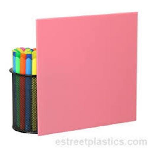 "3199 Pink Translucent Acrylic Plexiglass sheet 1//8/"" x 24/"" x 24/"""