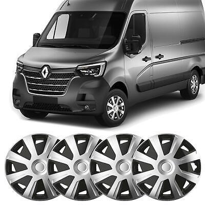 UKB4C 4x Silver//Black 15 Inch Deep Dish Van Wheel Trims Hub Caps For Vauxhall Combo