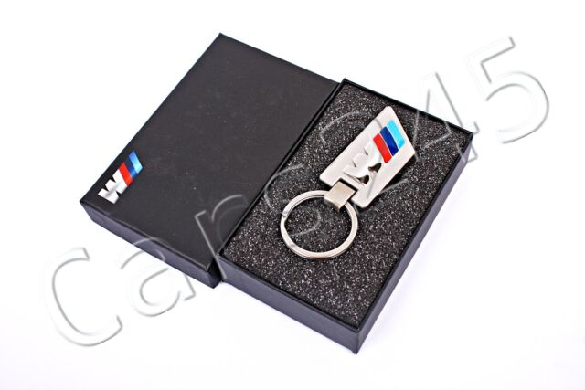 Genuine BMW M Logo Key Chain Ring Pendant Stainless Steel 80272304189
