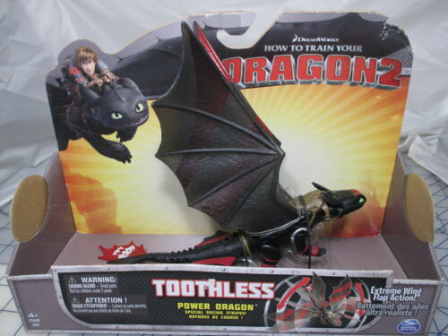 How train Your Dragon 2 TOOTHLESS Power Dragon Racing Stripes w// Wing Action NEW