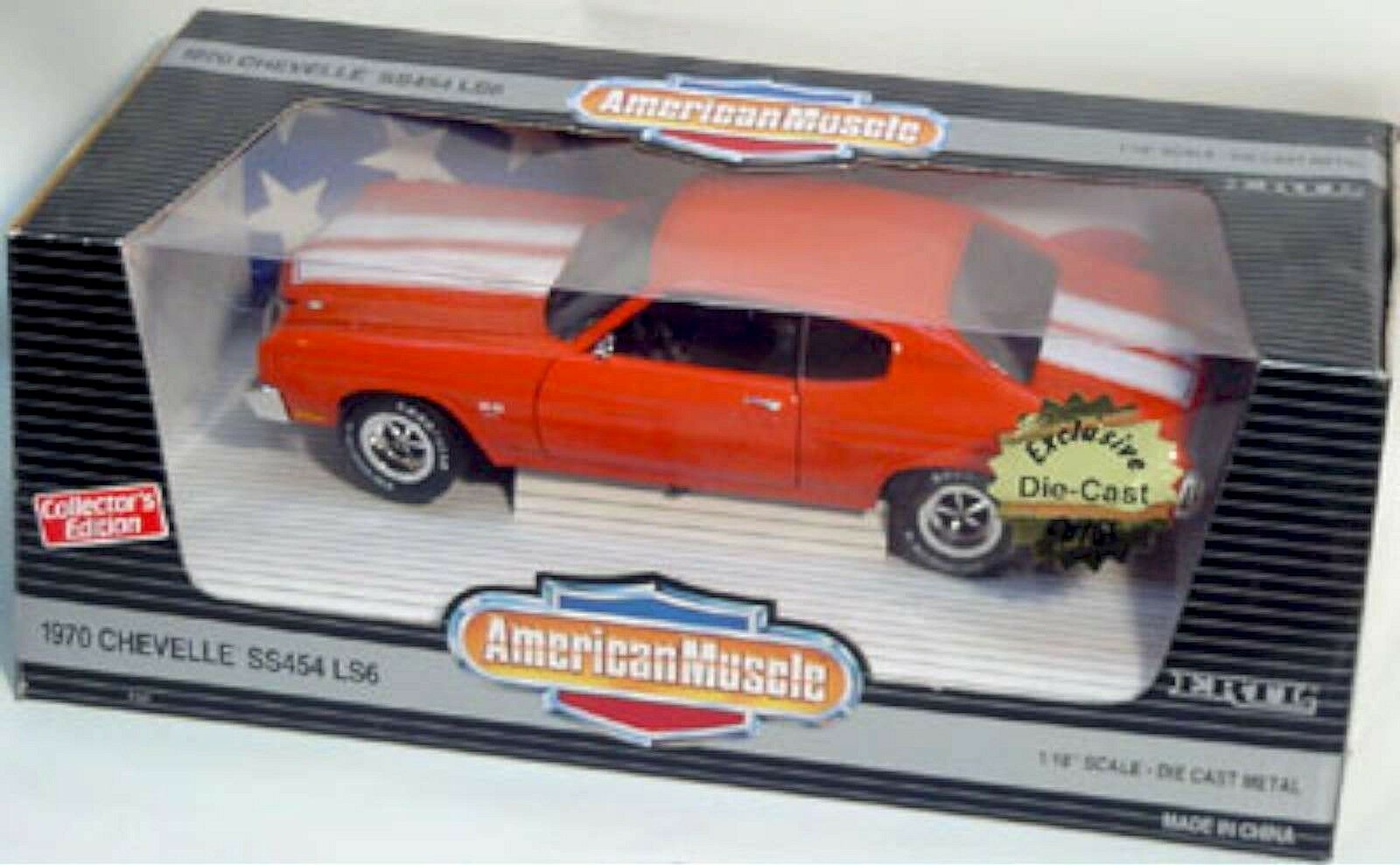 Ertl 1 18 1970 Chevy Chevelle Ss 454 LS6 arancia 7147 American Muscle Sellado'70