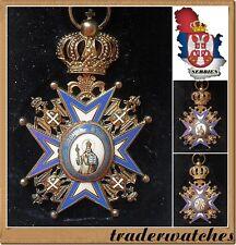 Order of St. Sava IV  Class Original Huguenin Freres & CO !!!