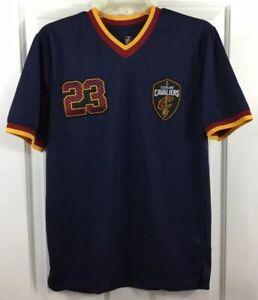 size 40 ca748 2ce27 Details about Cleveland Cavaliers LeBron James Men's Navy S/S Shirt Jersey  NBA Net-Dri Size S