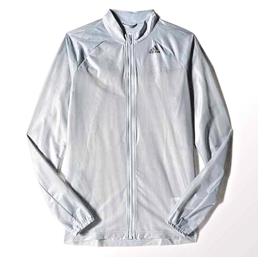 purchase cheap 966df e3aa7 adidas Adizero Ghost Womens Grey Long Sleeve Running Sport Full Zip Jacket  XS  eBay