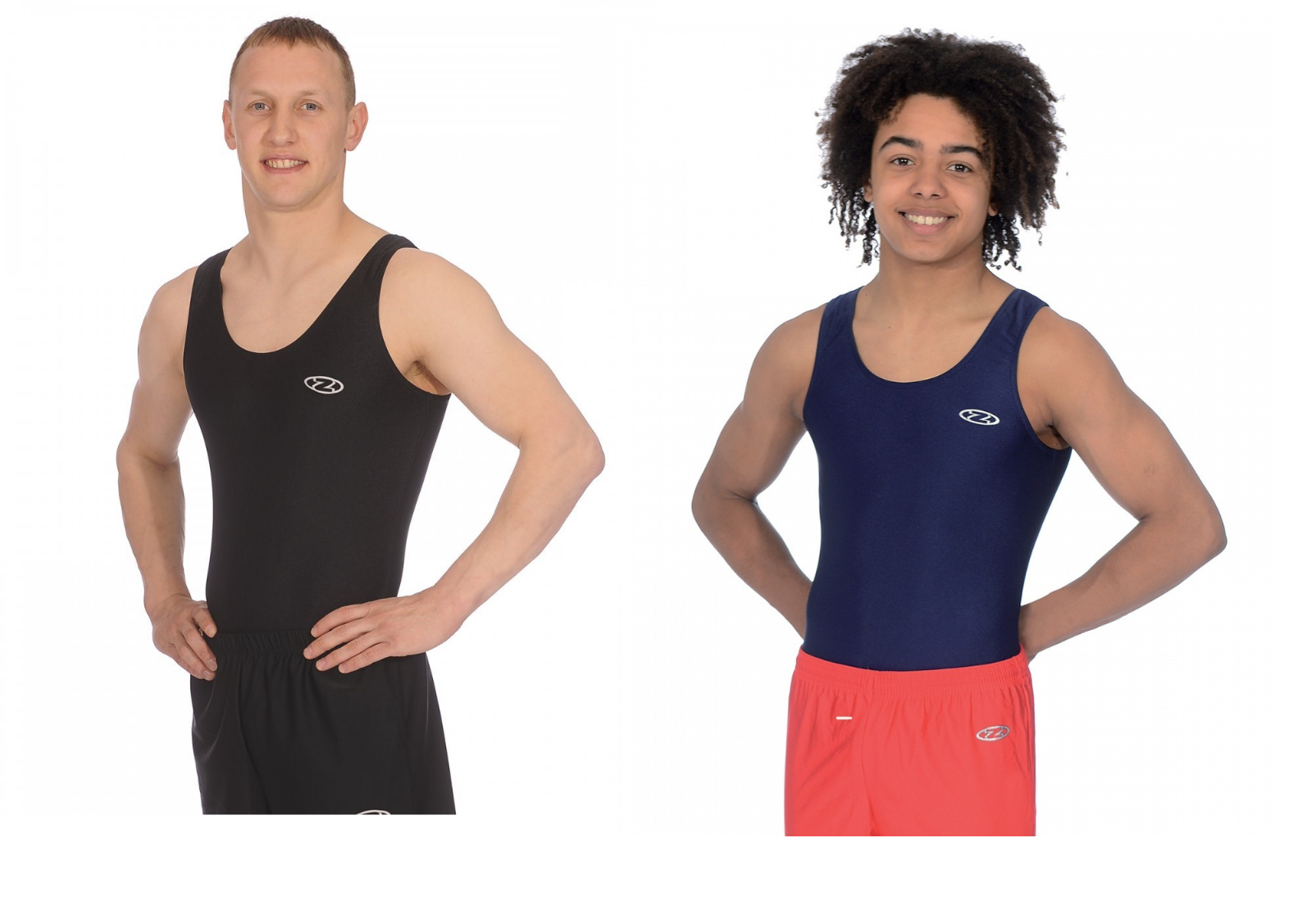 THE ZONE Z119 Mens and Boys Gymnastics Leotard Gym Gymnast Dance Black or Navy