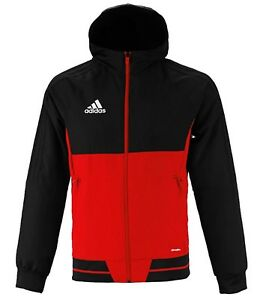 Details about Adidas Men Tiro 17 PRE Training Jacket Red Running Top Shirts Jackets BQ2771