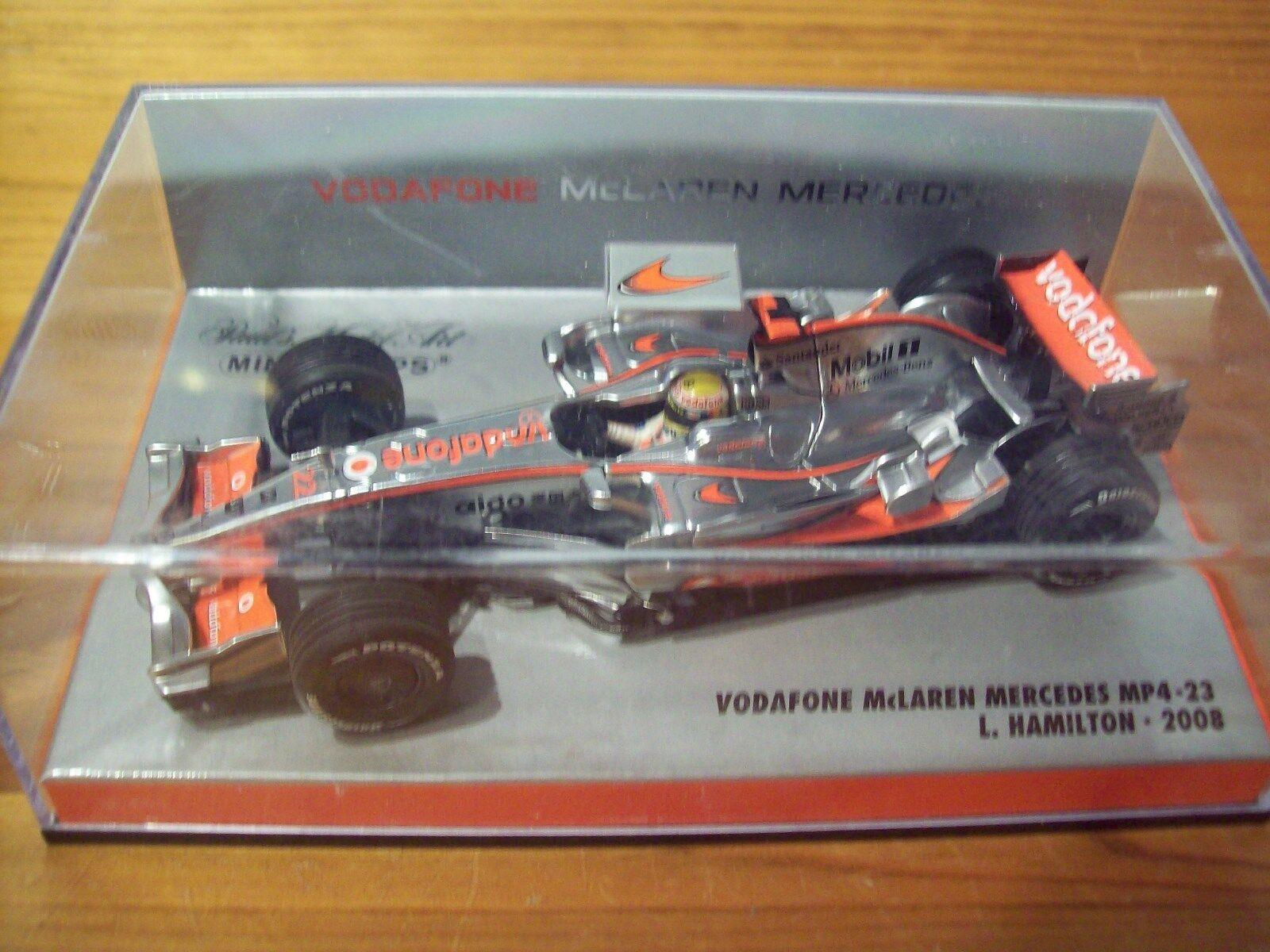 1/43 2008 McLaren MP4/23 Lewis Hamilton Vodaphone BOX 2008 CAMPIONE DEL MONDO