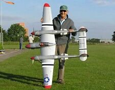 """P38 Lightning 74"""" Giant Scale RC Model AIrplane Printed Plans"""