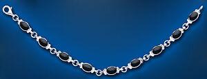 Onyx Bracelet Solid Sterling Silver