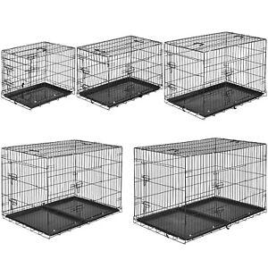 Cage Pour Chien Box De Transport Métallique Boîte Parc À Chiots Canine
