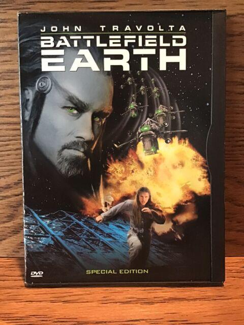 Battlefield Earth (DVD Snap Case) Disc VG John Travolta L. Ron Hubbard