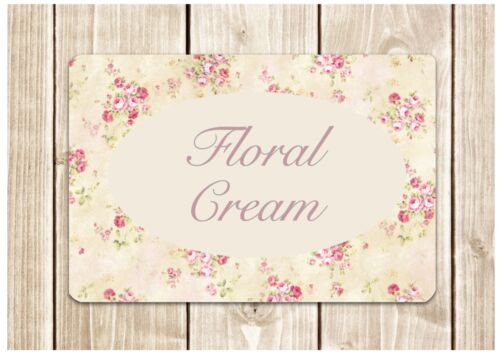 WOOD CUSTOM-MADE DOOR SIGN Personalise Blank Floral Cottage Chic House Plaque