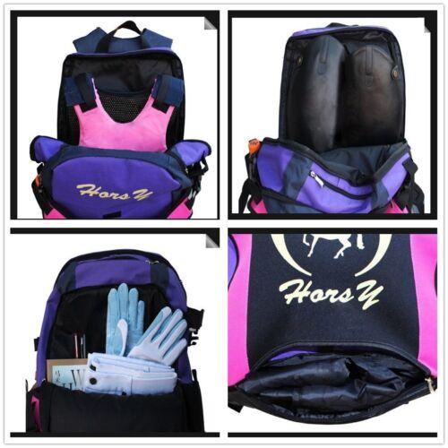 Parent-child Equestrian Backpack Horsy Professional Horse Riding Boot Helmet Bag