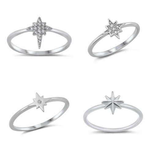 925 Argent Sterling Twinkle Star Design Anneau Tailles 4-10 NOUVEAU