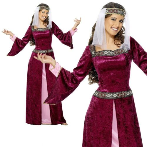 Adulto Lady Marion Costume Donna Robin Hood UK 8-26