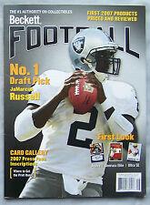 June 2007 Beckett Football JaMarcus Russell Oakland Raiders