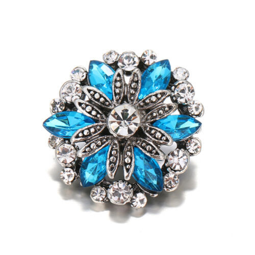 10pcs Cristal Alliage Charme Ginger Snap Bouton pour Noosa Collier//Bracelet N768