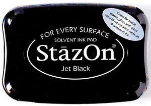 Stempelkissen-Stazon-Jet-Black-wasserfeste-Stempelfarbe-permanent