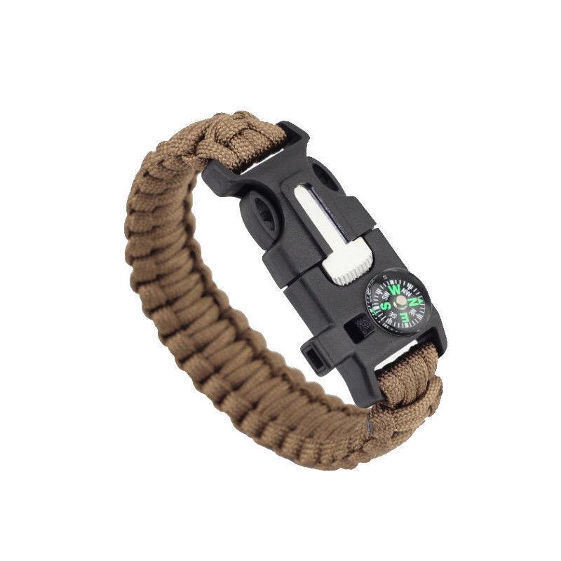 Bracelet de Survie Survie Survie Paracorde Tressage Compas Sifflet Pierre à Feu Grattoir Corde 764df6