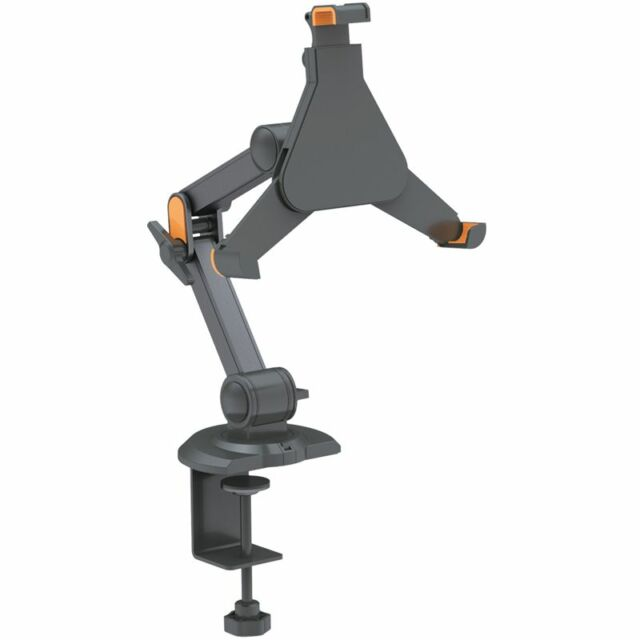 "IPAD 1 2 3 4 TWIN ARM FLEXIBLE DESK MOUNT 8.9 - 10.4"" TABLET STAND CLAMP GALAXY"