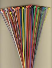 "100 11"" Inch Long 50# Pound Nylon Cable Ties 10 COLORS Zip Tie Ty Wrap MADE USA"